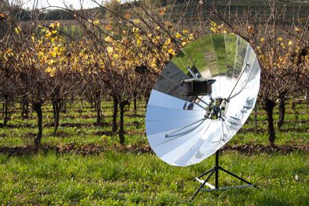 cucina solare pieghevole
