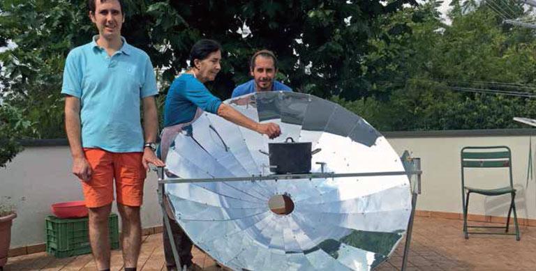 Cucina solare famiglia Zanoni